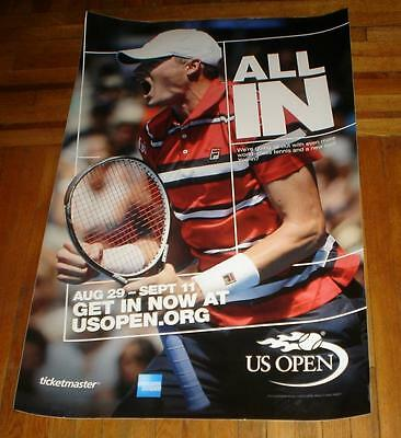 2016 Us Open Subway Poster John Isner Rare