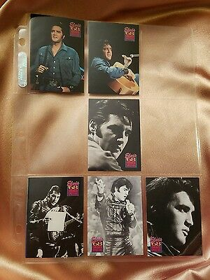 Six Elvis Presley Collection Trading Cards (1992)