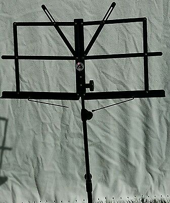 Music Sheet Stand - Portable - Adjustable - Black - Excellent Condition