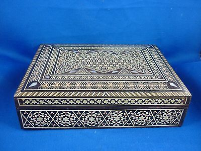 Stunning Vintage Middle Eastern Mosaic inlaid  Jewellery/ Trniket  Box