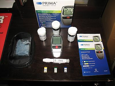 PRIMA 3 in1 Monitoring Blood Cholesterol, Triglycerides and Glucose.