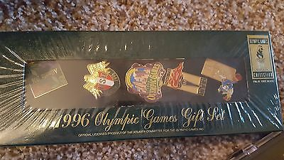 1996 Atlanta Olympic Games Boxed Gift Set Authentic Collection Set of 5 Pins New