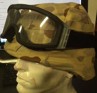 Desert Camouflage Modern Helmet Cover And Goggles