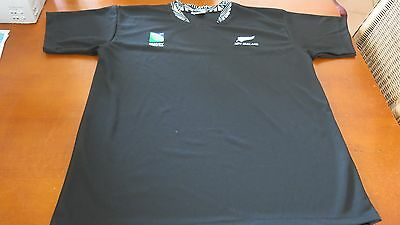 New Zealand Irb Rugby World Cup Training Shirt, Size Xl 100% Cotton Vgc