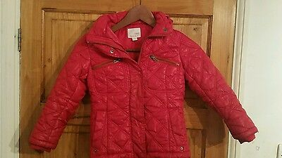 Next Red Shiny Padded Quilted Coat 5-6 year old