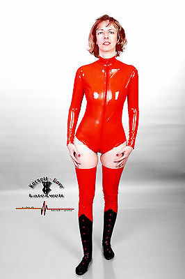 Latex, Body in Rot, Leotard, Fetish, Domina, Gummi