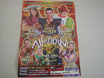 Scott Maslen (2015/16 Bromley Panto Flyer) hand signed RARE **FREE POST**