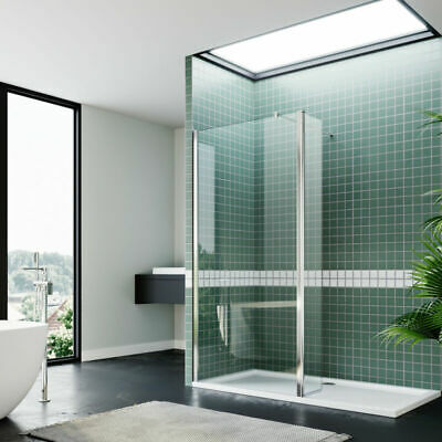 Walk In Shower Screen Wet Room Shower Enclosure and Tray Cubicle Glass Screen