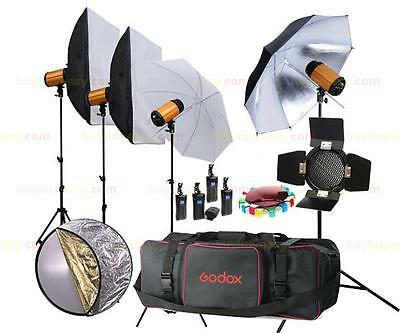 Godox 1200W Studio Strobe Flash Light Kit 4 x 300SDi Lighting