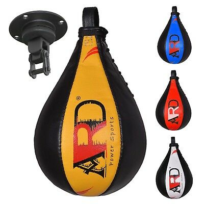 ARD® Leather Boxing Speed Ball with Swivel For MMA Punching Workout Training