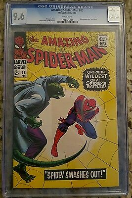 Amazing Spider-Man #45 (1963 1st Series) CGC 9.6 NM+  White Pages!!!