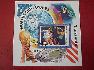 Tanzania - 1994 World Cup - Minisheet - Unmounted Used -  Ex Condition