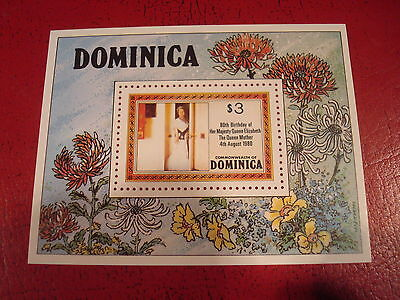 Dominica - Queen Mother`s Birthday - Minisheet - Unmounted Mint - Ex. Condition