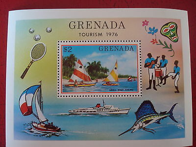 Grenada - 1976 Tourism - Minisheet - Unmounted Mint - Ex Condition