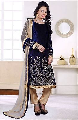 winter velvet dress material with embroidery work