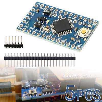 5pc Compatible Pro Mini Enhancement ATMEGA328P 16MHz 5V Arduino PRO Module TE362