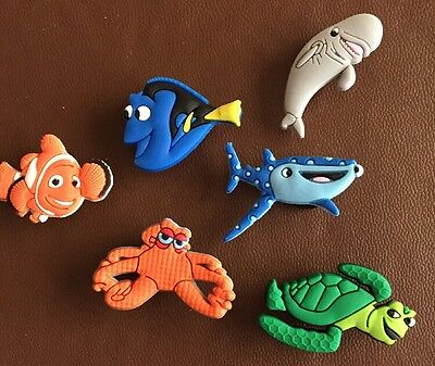 6 X Finding Dory Pvc Shoe Charms, Wristbands, Bags