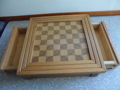 wooden chess board home made