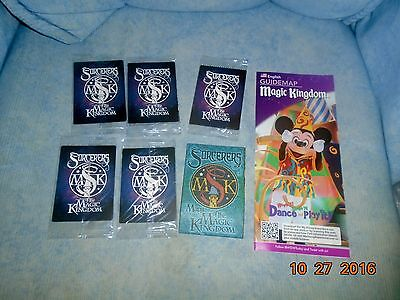 5 New Unopened Packs Disney Sorcerers of The Magic Kingdom Cards 25 Cards plus