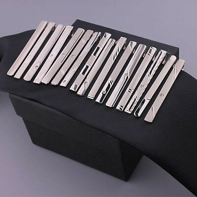 1 Pc Chic Gentleman Silver Metal Simple Necktie Tie Clip Bar Clasp Practical New