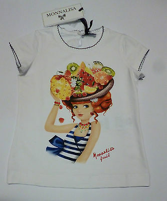 Abbigliamento Bambini - MONNALISA T-shirt bianca LADY FRUIT m/m MADE IN ITALY