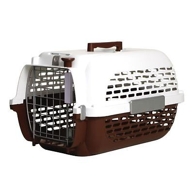 PET VOYAGER Cage transport marron 57x37x32cm T2