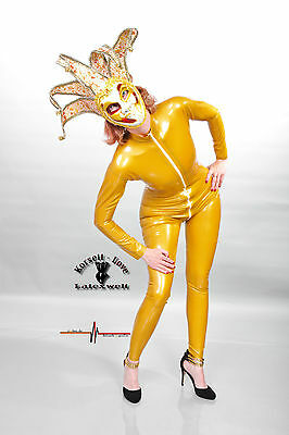 Latex Catsuit, Farbe Metallic Gold Fetish, Domina, Gummi, Hauteng,