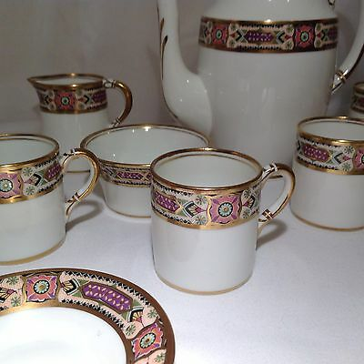 Beautiful Antique Coffee Set Hand Painted Demitasse Cups Expresso Royal Standard