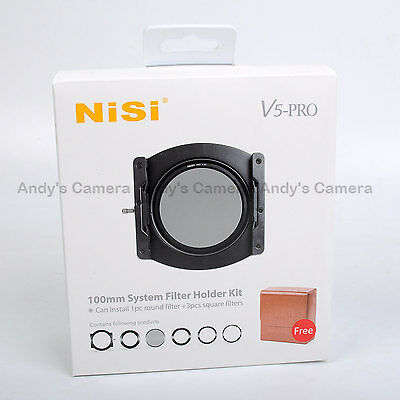 Nisi 100mm System V5 Pro Filter Holder + 67,72,77,82mm Adaptor Ring + CPL + Case