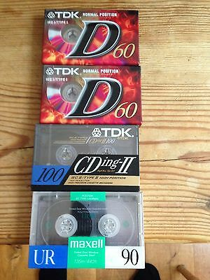 Blank Audio Cassette Tapes NEW & Sealed **