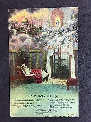 Vintage Postcard - Bamforth Song Card #41 - The Holy City (3)