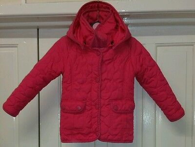Girls  M & Co Pink Jacket 3 to 4 yrs 104cm
