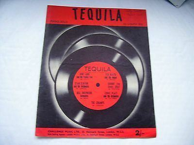 Sheet Music: The Iconic Piece Tequila: Piano Solo by Chuck Rio:1958