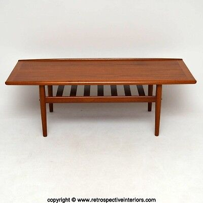 DANISH RETRO TEAK COFFEE TABLE BY GRETE JALKE VINTAGE 1960's