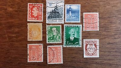 LOT Collection 10 Timbres NORVEGE - EUROPE DIVERS