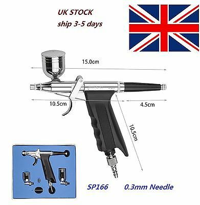 Dual Action Trigger Air-paint Control Gun Type Airbrush for Body Car Painting UK