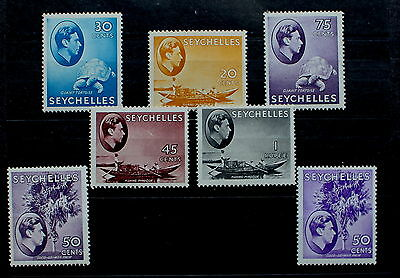 SEYCHELLES: 7 mid-range values from the 1938 pictorials, MM, good cat. (SEY 2a)