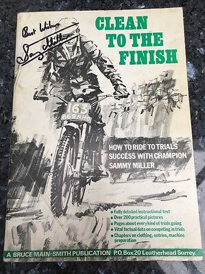 Signed Clean To The Finish Sammy Miller Book