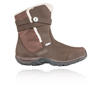 "Oboz Madison Bdry 7"" Insulated Mujer Marrón Impermeable Caminar Zapatos Botas"