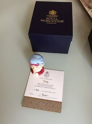 Royal Worcester,  Judy, Candle Snuffer, Boxed With Certificate