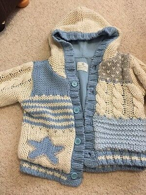 Boys Baby Knitted Next Cardigan/jacket 9-12 Month