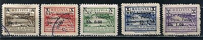 1947-48 BOLIVIA POSTAL TAX STAMPS Ovpt - MINT & USED