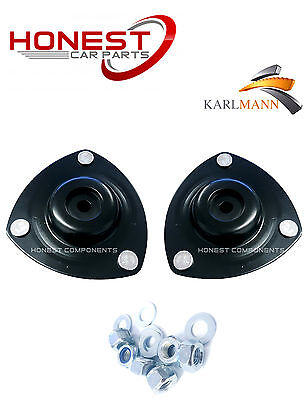 For HONDA CIVIC 01-06 FRONT LEFT & RIGHT TOP STRUT MOUNTINGS + BOLTS By Karlmann