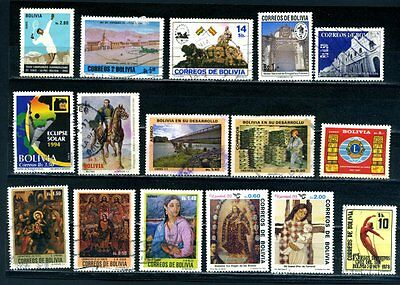 Bolivia Selection of 16 stamps used