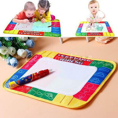 80X60cm Water Drawing Toy Painting Writing Mat Board 2 Magic Pens Doodle Mat AX