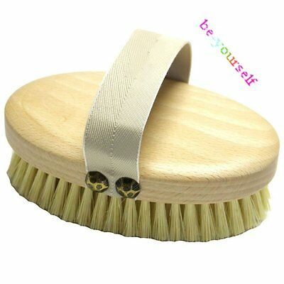 Professional Dry Skin Body Brush with Cactus Bristles Firm/Extra Firm Bristles B