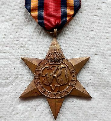 THE BURMA STAR - Genuine British WW2 War Medal