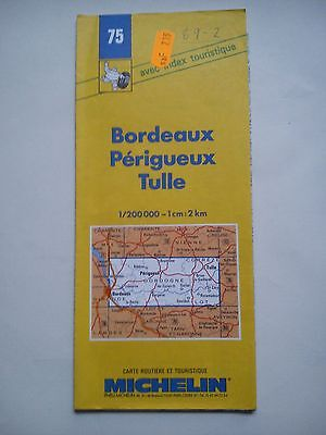 Vintage 1989 1:200,000 Michelin Map of France No.75 Bordeaux - Perigueux Tulle