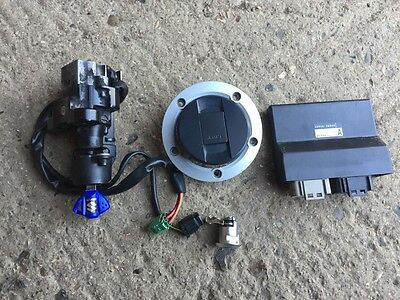 Suzuki Gsxr 750 K8 K9 Lo 2008 Breaking Parts Complete Lockset Ecu Ignition Keys