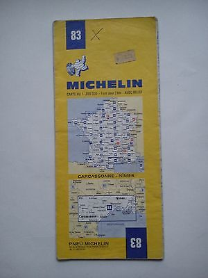 Vintage 1973 1:200,000 Michelin Map of France No.83 Carcassonne - Nimes